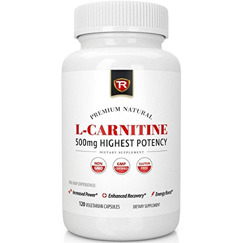 Best L-Carnitine - 120 Count 500mg Vegetarian Capsules - 1000mg Daily Serving