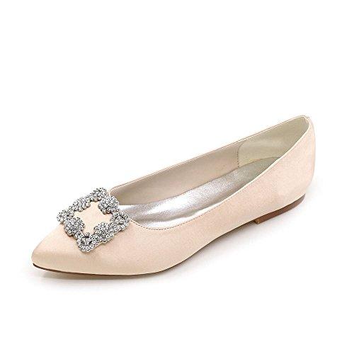 38 Duoai Chaussures Mariage Couleur Chaussures Satin Soie Tempérament Rose Pleine Femmes Partie Télévision Femmes Chaussures 6nrf76wxq
