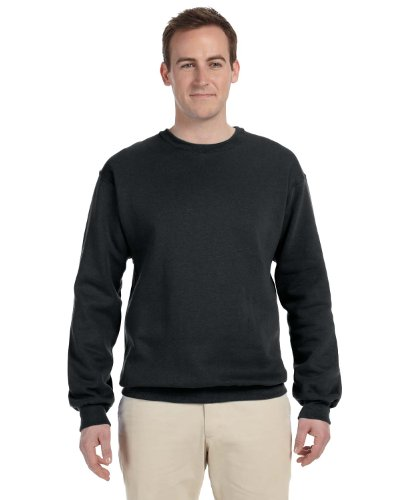 Fruit of the Loom Men Athletic Cotton Supercotton Sweatshirt, Black, XX-Large