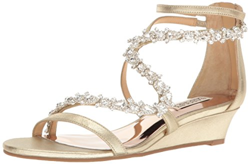 Platino Sandal Mischka Belvedere Women's Badgley Wedge qXfaww