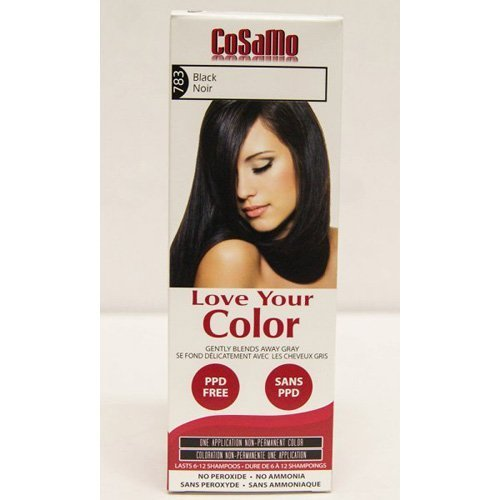 CoSaMo Love Your Color, No Ammonia, No Peroxide Hair Color, #783 Black (Case by love your color by love your color