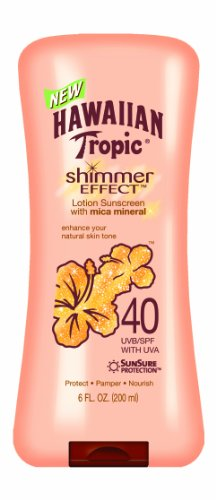 Hawaiian Tropic Shimmer Effect SPF 40 Lotion, 6-Fluid Ounce