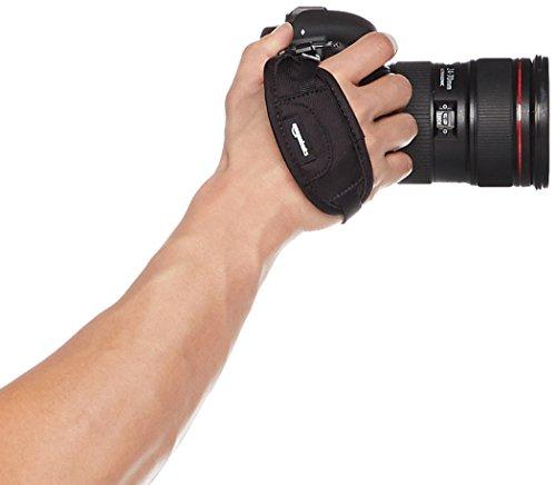 AmazonBasics Padded Camera Hand Strap - 5.3 x 2 x 1 Inches, Black
