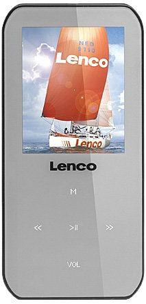Lenco Xemio-655 MP4/MP3/WMA-Player 4GB (4,6 cm (1,8 Zoll) TFT-Display, SD, Aufnahmefunktion, USB, Software und CD) grau