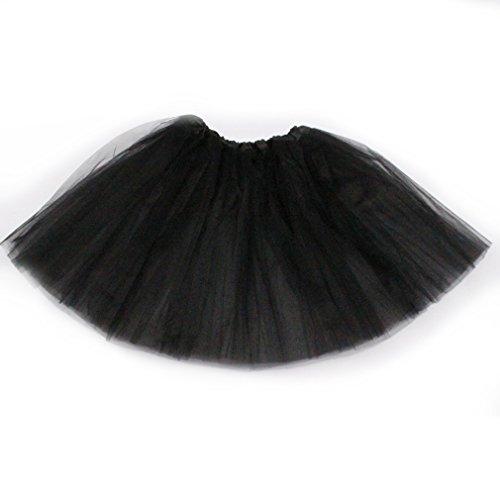 Dreamdanceworks - Falda tutú clásica de tul elástico de 3 capas negro