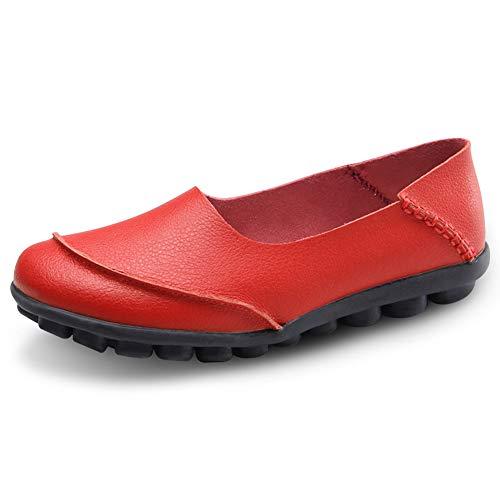 Ocio Casuales Rojo Zapatos Conducción Padcod Pisos Trabajo Calzado Padcod Conducción def927