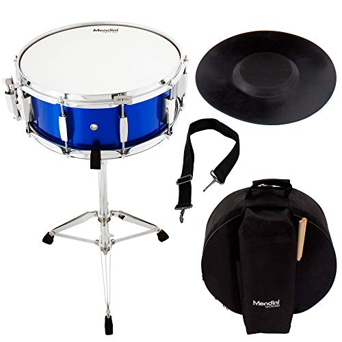 Mendini Student Snare Drum Set with Gig Bag, Sticks, Stand
