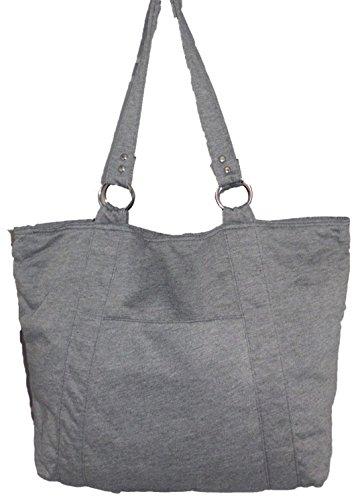 Shopper, Henkeltasche, Damentasche, Strandtasche, Sporttasche grau
