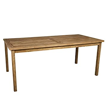 mesa para jardn de madera teca cm de largo portes gratis