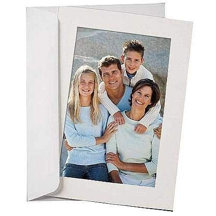 SIMPLICITY FLINT-WHITE Photo Insert Card (sold in 10s)