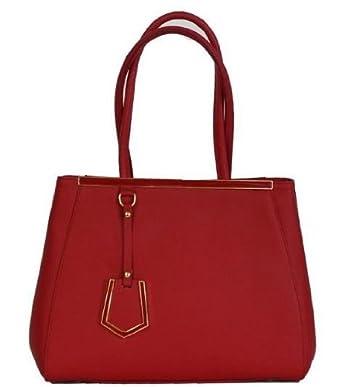 d9219df5711a2a Amazon.com: Etasico Italian Leather Bags Designer Inspired Prada Handbags -  Red: Clothing