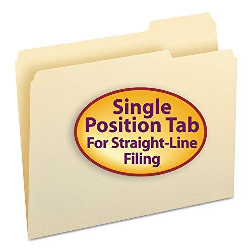 /3-Cut Tab Right Position, Letter Size, Manila, 100 Per Box (10333) (Company File Folders)