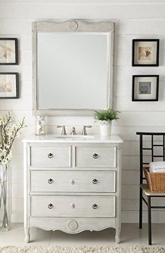 34u201d Benton Collection Cottage Look Daleville Bathroom Sink Vanity W/ Mirror  Model HF081