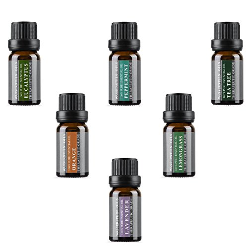 Aromatherapy Oils 100% Pure Therapeutic Grade Basic Essential Oil Gift Set by Wasserstein (Top 6, 10ml) (Christmas Tree Sampler)