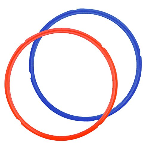 Genuine Multipot Sealing Ring 2-Pack Red/Blue for 6 Quart Pressure Cooker by Mealthy