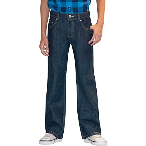 (Faded Glory Husky Boys' Bootcut Denim Blue Jeans (12H, Rinse))