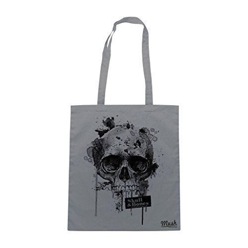 Borsa Skull And Bones 2 - Grigia - Mush by Mush Dress Your Style