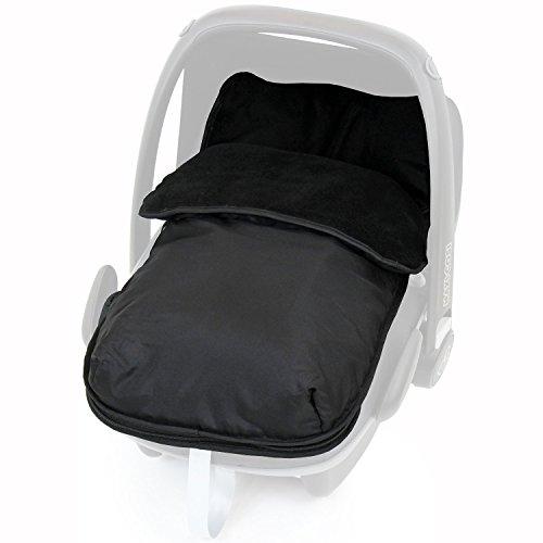 Universal Car Seat Footmuff to Fit All Car Seats - Black (Black): Baby