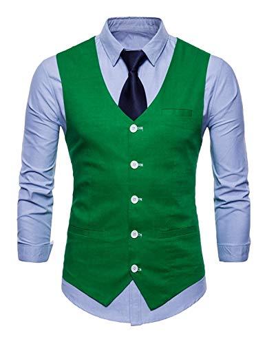 Tuxedo Grüne Hommes Gilet Party Slim Fit De Loisirs Blazer Gilets Essentiel Vest Costume Mariage SnxBwO6