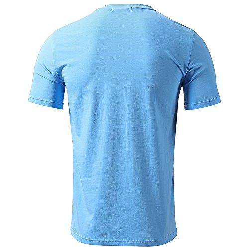 Più V Casual Colletto Mare Con Elastica A shirt T Per Cui Blu Scegliere Da Bottoni Uomo Colori Tra Manica Maglietta Corta x86AAqpw