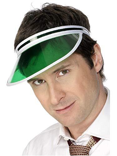 Green Tinted Classic Casino Poker Dealer Visor Hat Cap Costume Accessory