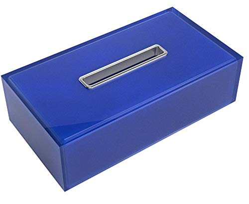 Gedy RA08-05 Tissue Box Cover, 1.5'' L x 9.84'' W, Blue