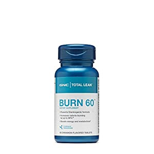 GNC Total Burn Thermogenic Nutritional Supplement, Cinnamon Flavored 60 Count