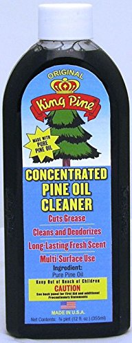 Pine Disinfectant Cleaner - KING PINE Concentrated Pine Oil Cleaner - Multi-Surface Cleaner - Original , 12 fl oz