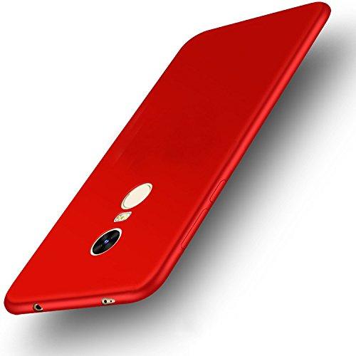 Xiaomi Redmi Note 4 4X Versión Global Funda + Acollador, Flexible Suave Silicona Gel Carcasa, Ultra Delgado Ligero Protectora Completa TPU Goma Caso, Anti-Arañazos Anti-Huellas Dactilares Caja - Oro Rojo