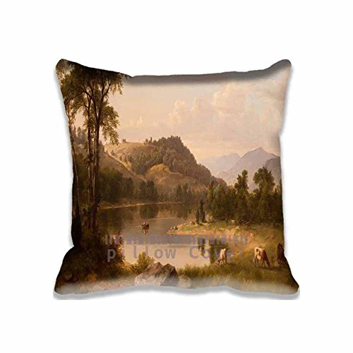 Popular Band Decorative Row Boat Throw Pillow Covers - Cotton Zippered Artistic Cushion Case for Couch , (Lovers Rowboat)