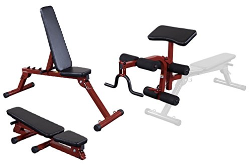 Best Fitness by Body-Solid Folding FID Bench with Leg Developer Preacher Curl Attachment