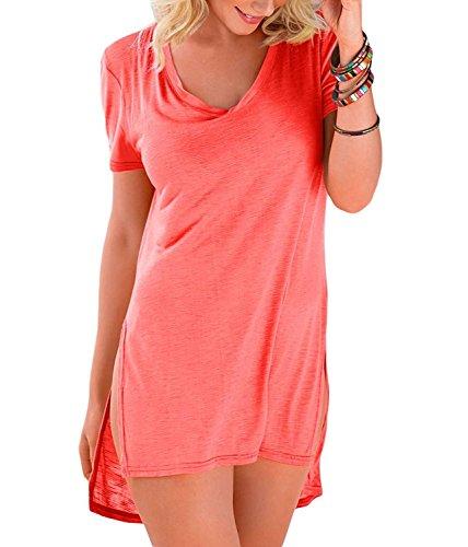 Sodika Womens Baggy Swimwear Bikini Cover up Beach Dress T-Shirt