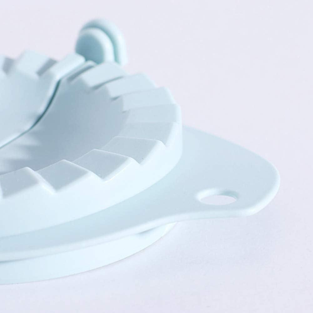 Elibeauty 1 Set DIY Knödel Maker Werkzeug Weizenstrohhalm Jiaozi Pierogi Form Klöße Form Clips Backen Formen Gebäck Küche Zubehör rot Hellblau
