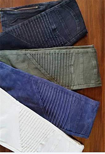 Dchen Qk Pantaloni Pieghettati Blau Donna Boyfriend Primavera Distressed Jeans Strappati Denim Alta Ragazza lannister Estate Elasticizzati Vita Uomo rnFxCwqfBr