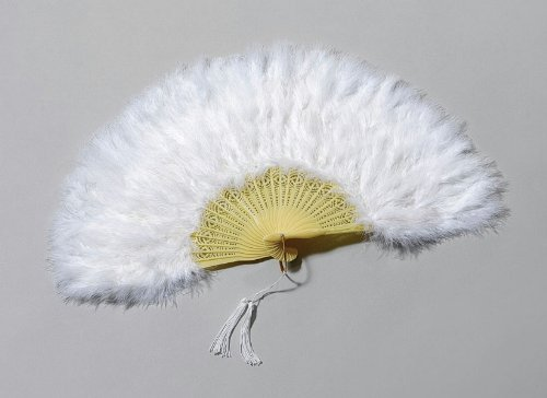 White Feather Victorian Fan