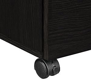 Altra Princeton Mobile File Cabinet, Espresso