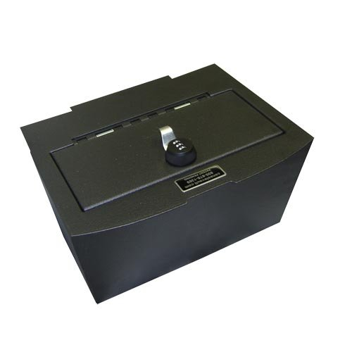 Console Vault Dodge Ram 1500/2500/3500 Full Floor 2009-2013 - 1028 - A Large, Secure, Storage Safe For Your Valuables With Fast And Easy Access - The Spring Assisted Lid Opens When Unlocked And Gives You Peace Of Mind