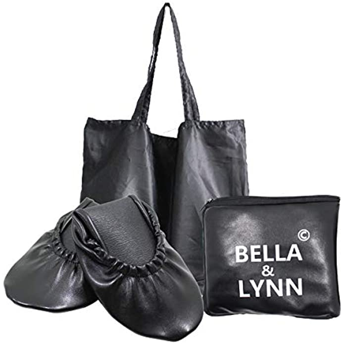 Foldable Shoes Travel Ballet Flats with Expandable Tote Bag for High Heels Folding Womens Shoes