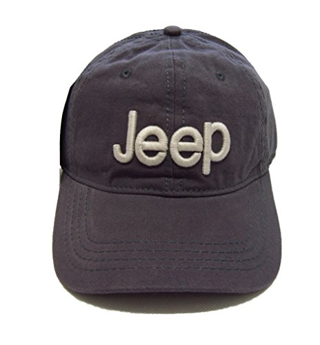 Jeep Unisex Solid Color Adjustable Cutton Baseball Cap Outdoor Sunhat with Front Logo (Gray)