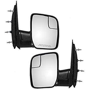 LED electrically Operated Mirrored Glass for 99-07 Ford F250 F350 Amber Power Heating Pair Set YYY Automatic Traction Mirrors Side Mirror Automatic Traction Mirror