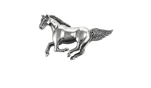 Sterling silver three horse brooch artist signed