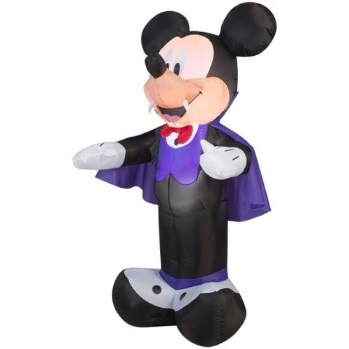 Disney Airblown Large 5' Mickey Mouse Vampire Lighted Inflatable Gemmy -