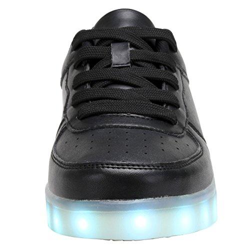 ab19397cefbbf COODO Männer Frauen Kinder LED Schuhe 7-Color-Lights USB Lade leuchten  Sneakers Z ...