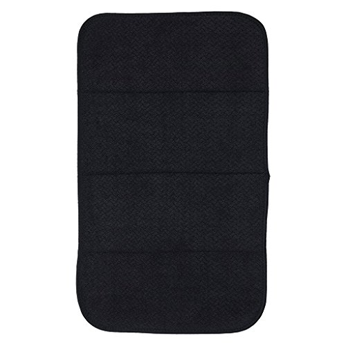 "Premium All-Clad Dual Surface, Reversible Dish Drying Mat for The Kitchen Counter, 1 Absorbent Drying Pad, 16"" x 28"", Black"