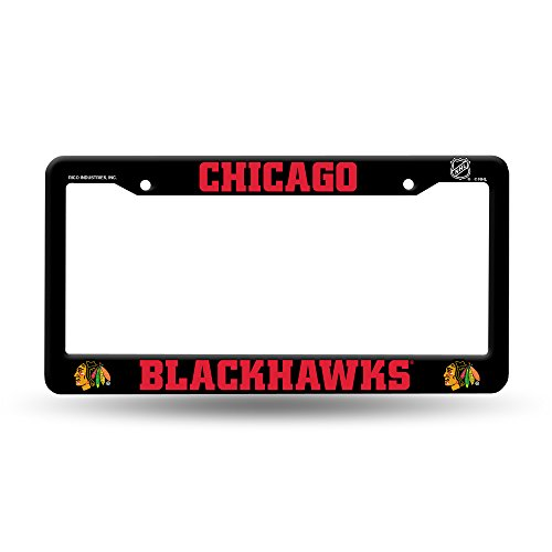 Rico Chicago Blackhawks Official NHL 12 inch x 6 inch Plastic License Plate Frame by 843274