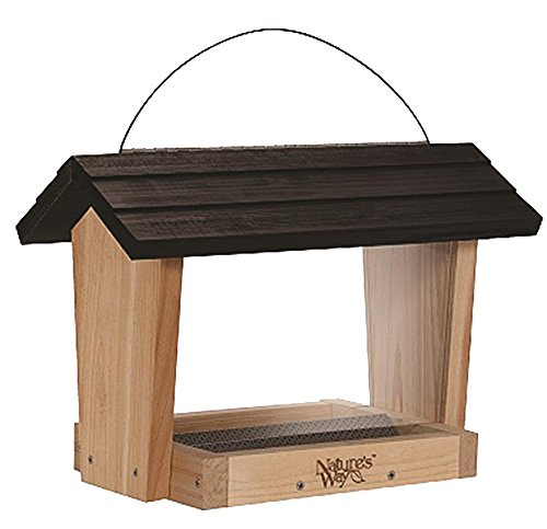 Nature's Way Bird Products CWF18 Cedar Hopper Bird Feeder, 6-Quart
