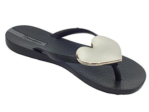 Negro de Sandalias Mujer Caucho para Ipanema qH4zwXqn