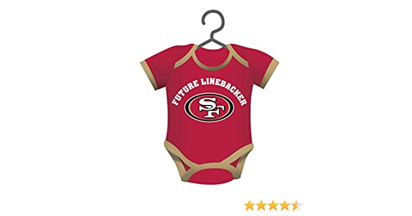 77633bd8 Team Sports America NFL San Francisco 49ers Baby Shirt Ornament, Small,  Multicolor
