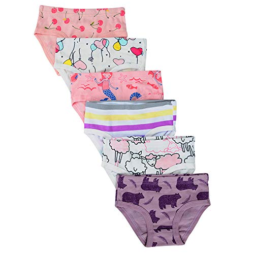 3 Pack Undies - Closecret Kids Series Baby Soft Cotton Panties Little Girls' Assorted Briefs(Pack of 6) (2-3 Years, Style11)