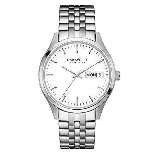 Caravelle 43C114 Men's Corporate Exclusive White Dial Stainless Steel Bracelet (Caravelle Mens Bracelet)